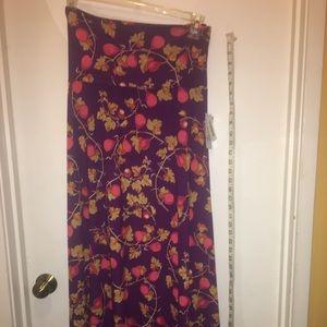 Maxi floor-length A-line skirt